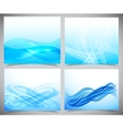 Blue and white modern futuristic backgrounds vector image vector image