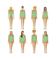 Different female body types Woman figure shapes vector image