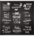 Collection Of Typographic Halloween Design vector image