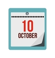 Columbus day calendar icon vector image