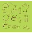 kitchen utensil design set vector image