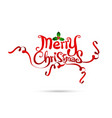 Merry Christmas text free hand design isolated on vector image