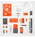 Modern corporate identity vector image