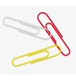 paper clip red white yellow vector image