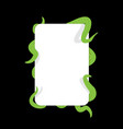 tentacle and banner green monster hugging white vector image
