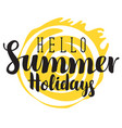 travel summer banner with inscription and sun vector image