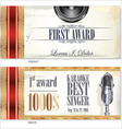 First award card karaoke template vector image vector image