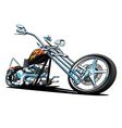 Custom American Chopper Motorcycle vector image