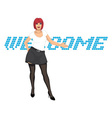 welcome invitation vector image