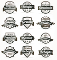 Spanish retro sale labels vector image