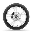 motorcycle wheel 02 vector image vector image