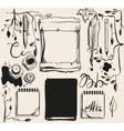Autumn back to school Office supplies on table vector image