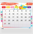 Calendar September 2013 vector image