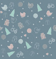 childish seamless pattern for christmas or happy vector image