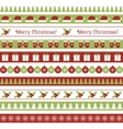 Christmas seamless borders vector image