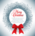 Christmas wreath made of musical notes vector image
