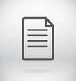 Flat New Document Open File Symbol Background vector image