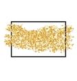 Golden randomly scattered sequins with black frame vector image