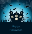 Halloween Abstract Greeting Card vector image