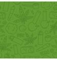 Marijuana weed cartoon seamless pattern vector image