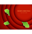 Red circles with christmas tree badges vector image