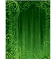 seamless floral background green vector image