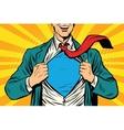Super hero male businessman vector image