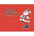 vintage red post card with Santa Claus and place vector image