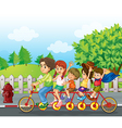 A family bike vector image vector image