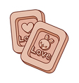 A pair of chocolates vector image vector image