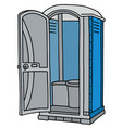 blue and gray mobile toilet vector image
