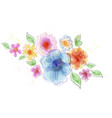 Bouquet of flowers isolated on white backgrond vector image