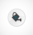 watering can icon 2 colored vector image