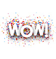 Wow sign vector image