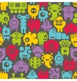 Seamless pattern with mini monsters nanobots vector image