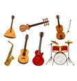 Classic and ethnic musical instruments vector image vector image