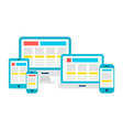 Responsive Design Flat Gadgets over White vector image