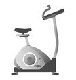 exercise bike in metallic color corpus isolated vector image