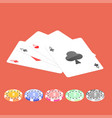 flat poker table flat poker table isometric vector image