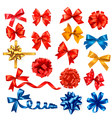 Gift bows with ribbons vector image