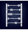 icon with chalk effect vector image