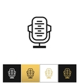 Retro microphone or stage audio record news vector image
