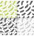 seamless set of floral pattern hand drawn vector image