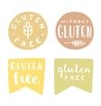 Set of gluten free badges vector image