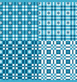set of winter patterns with tartan and snowflakes vector image