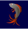 stilized sea fish icon vector image