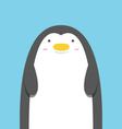 Cute big fat penguin vector image
