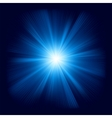 Blue star burst vector image vector image
