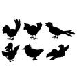 Bird silhouettes vector image vector image