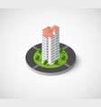 icon dimensional building vector image